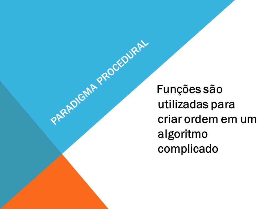Funções são utilizadas para criar ordem em um algoritmo complicado