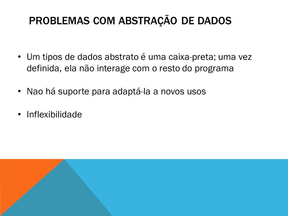 PROBLEMAS COM ABSTRAÇÃO DE DADOS