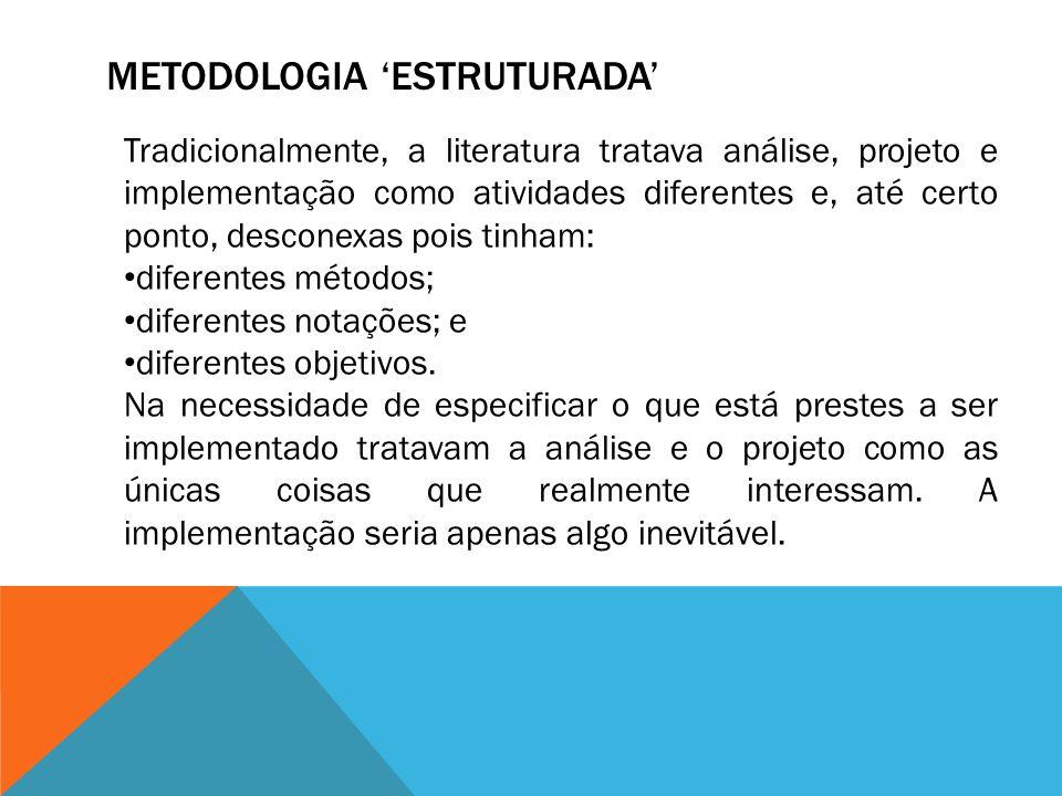 METODOLOGIA 'ESTRUTURADA'