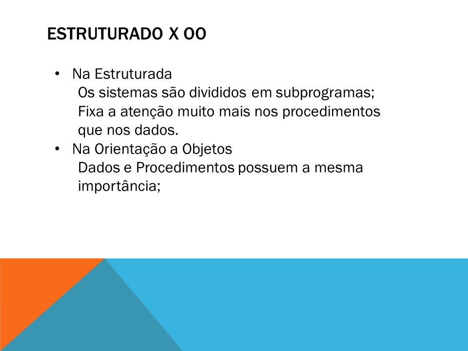 ESTRUTURADO X oo Na Estruturada
