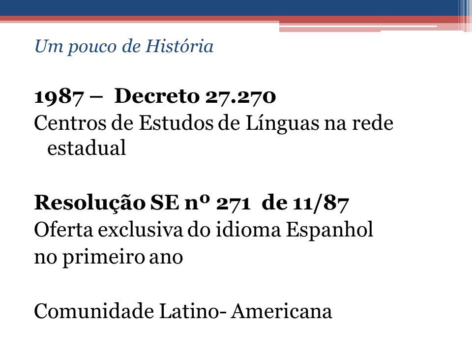 Centros de Estudos de Línguas na rede estadual