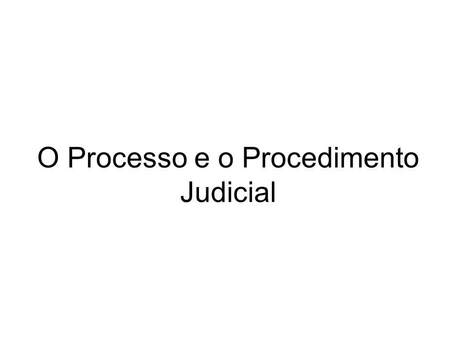 O Processo e o Procedimento Judicial