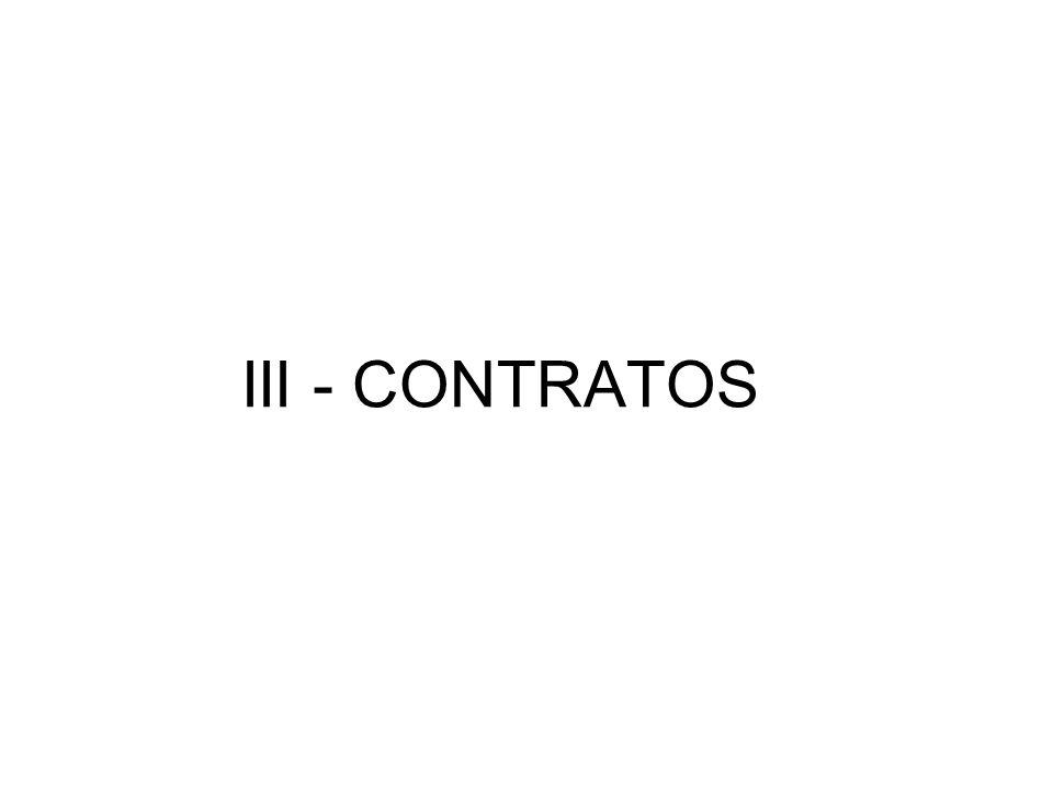 III - CONTRATOS