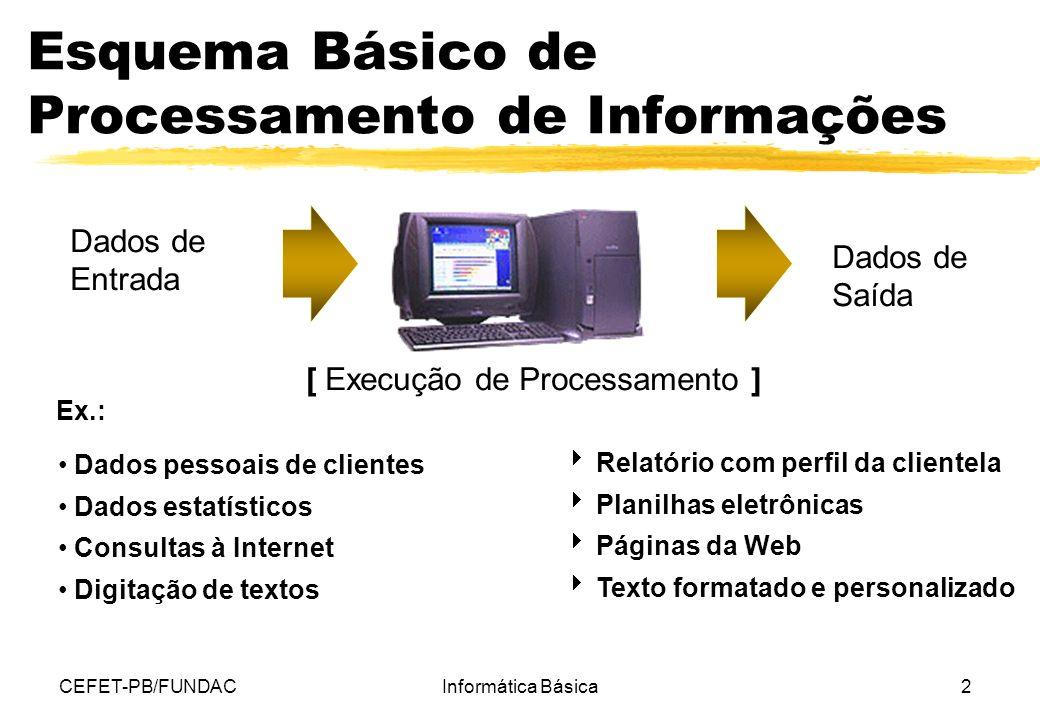 Esquema Básico de Processamento de Informações