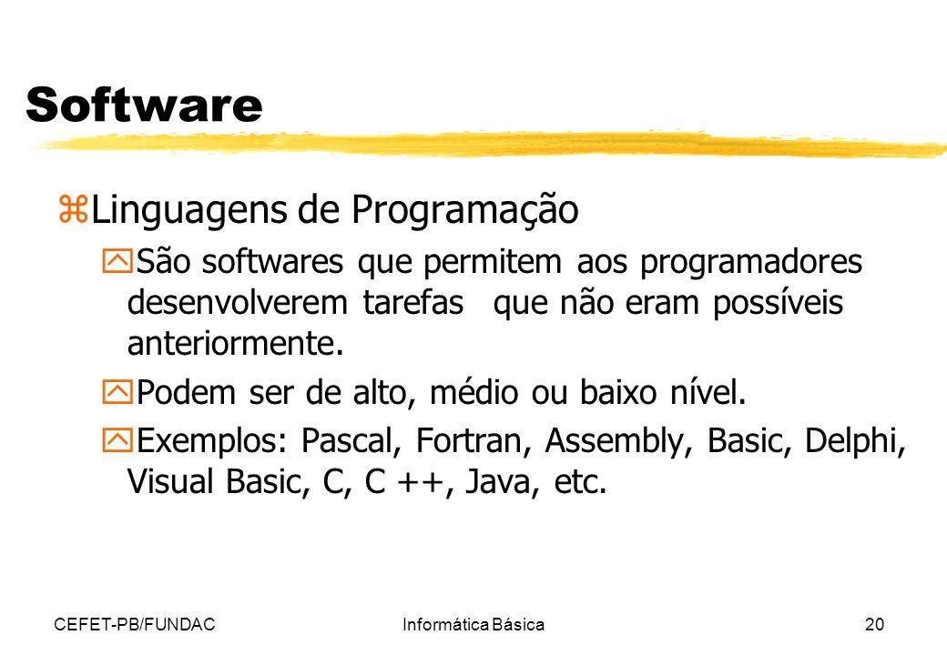 Software Linguagens de Programação