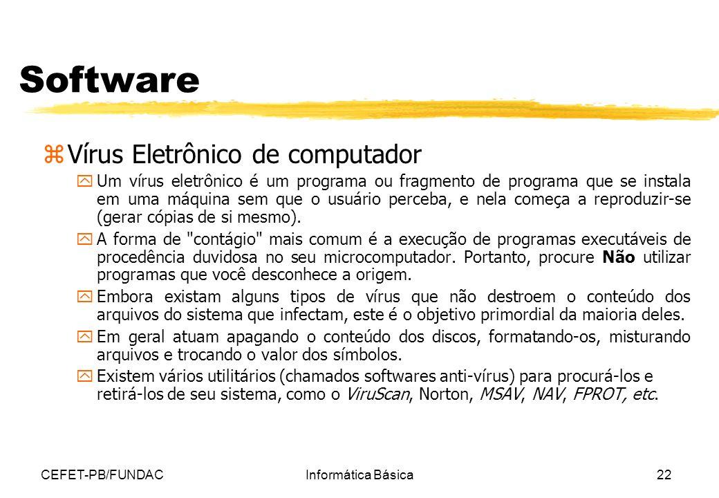 Software Vírus Eletrônico de computador