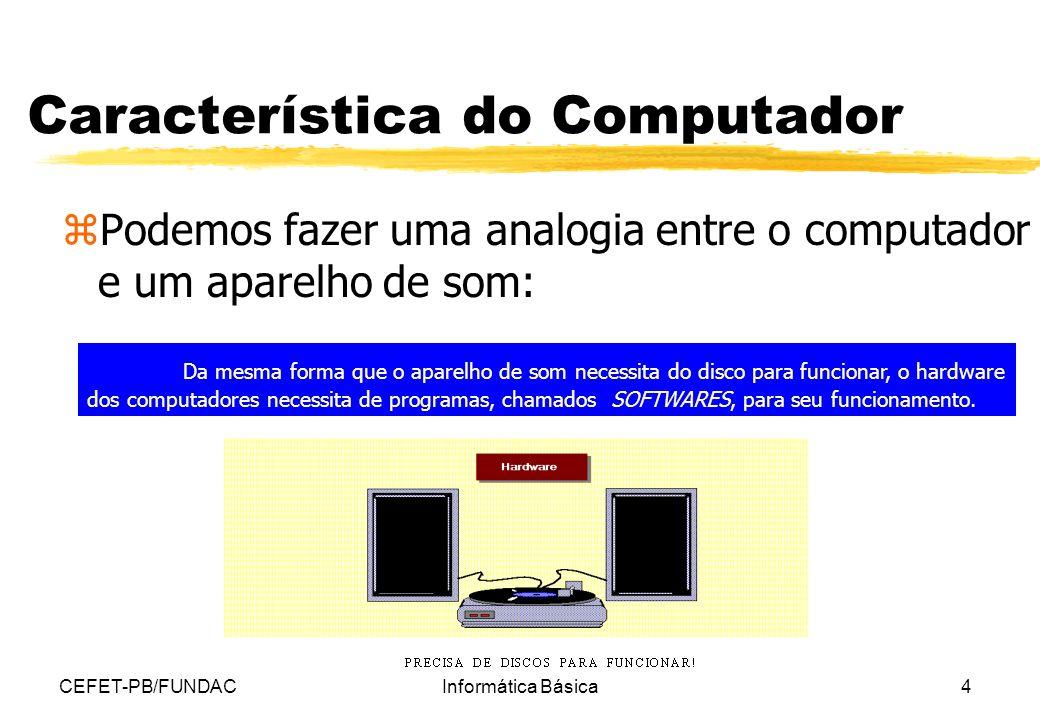 Característica do Computador