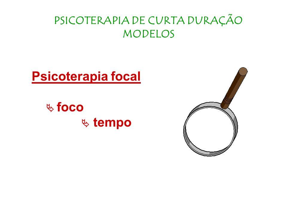 PSICOTERAPIA DE CURTA DURAÇÃO MODELOS
