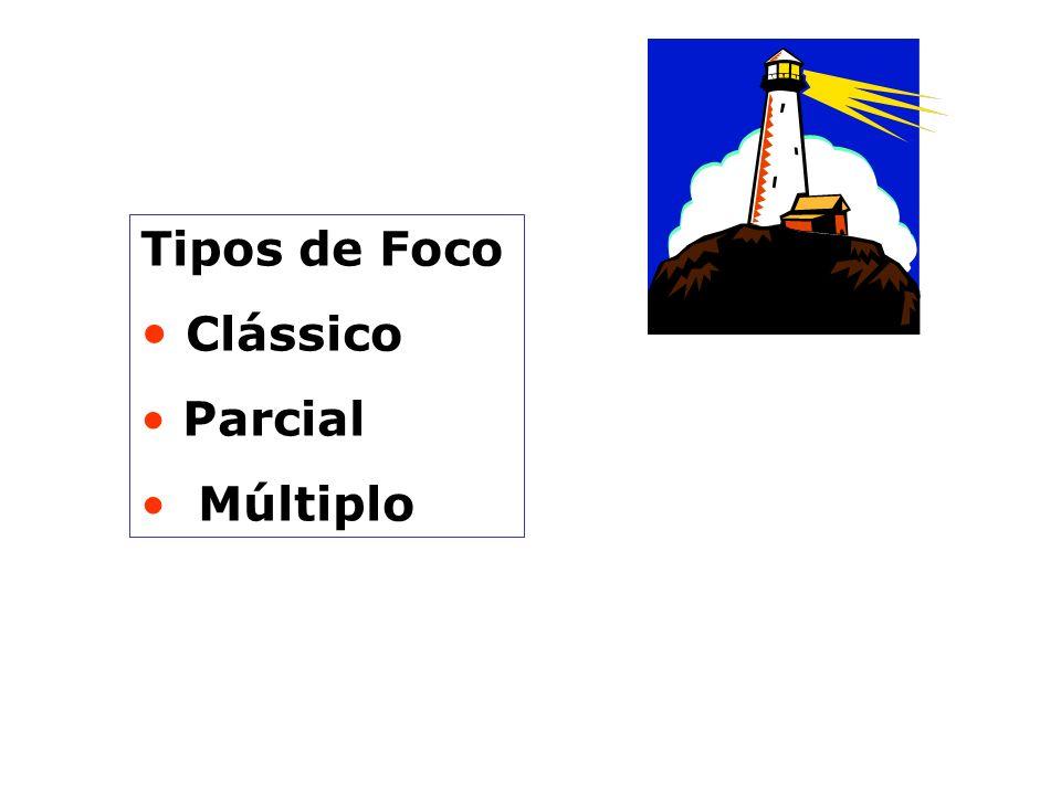 Tipos de Foco Clássico Parcial Múltiplo