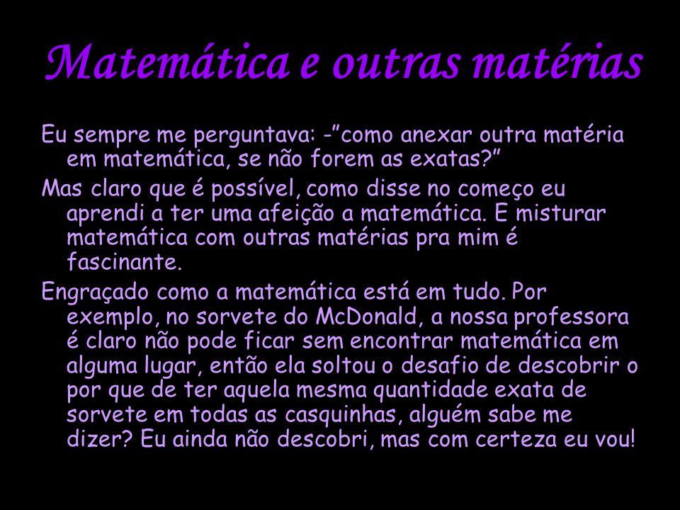 Matemática e outras matérias
