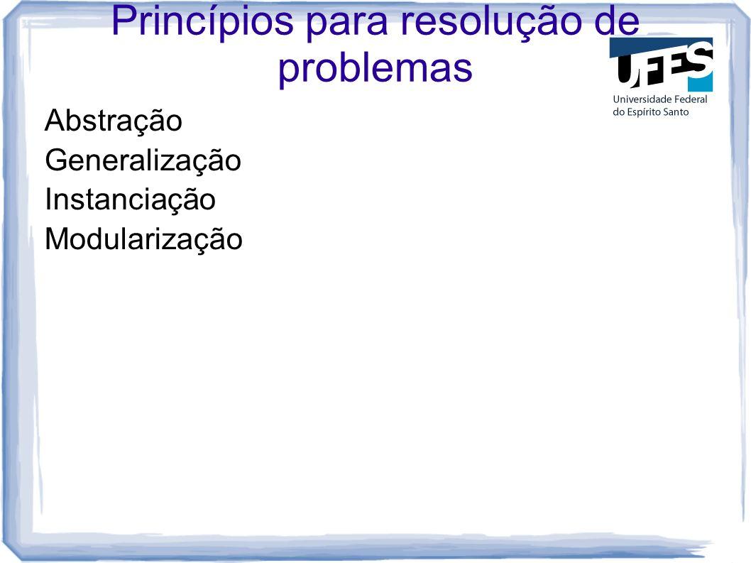 Princípios para resolução de problemas