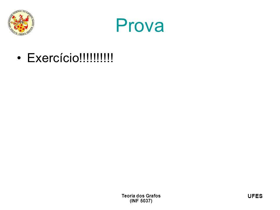 Prova Exercício!!!!!!!!!! Teoria dos Grafos (INF 5037) 16
