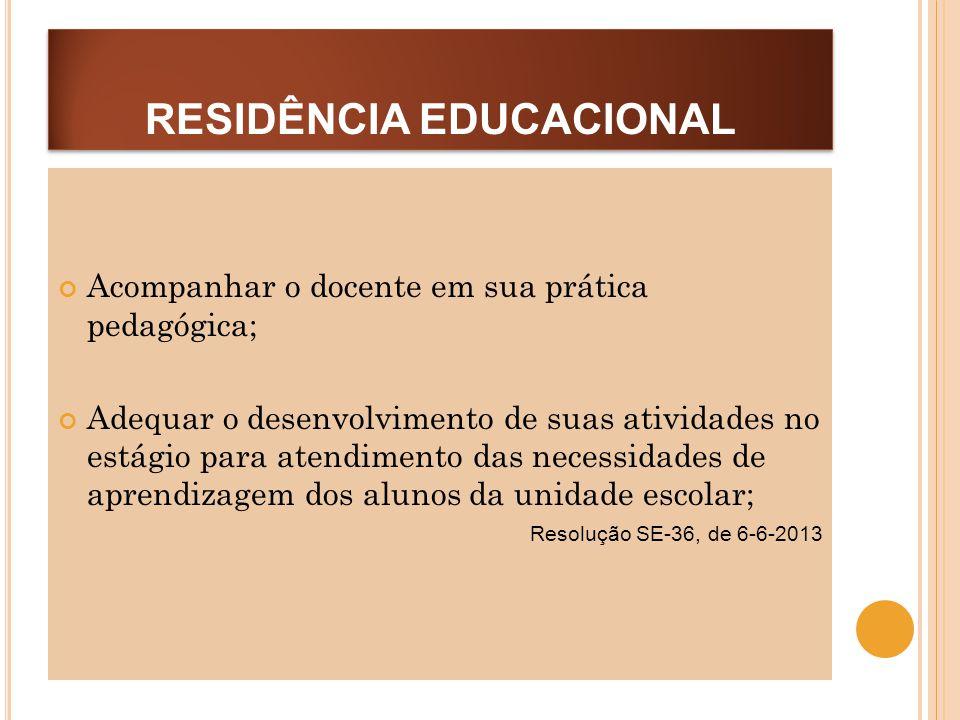 RESIDÊNCIA EDUCACIONAL