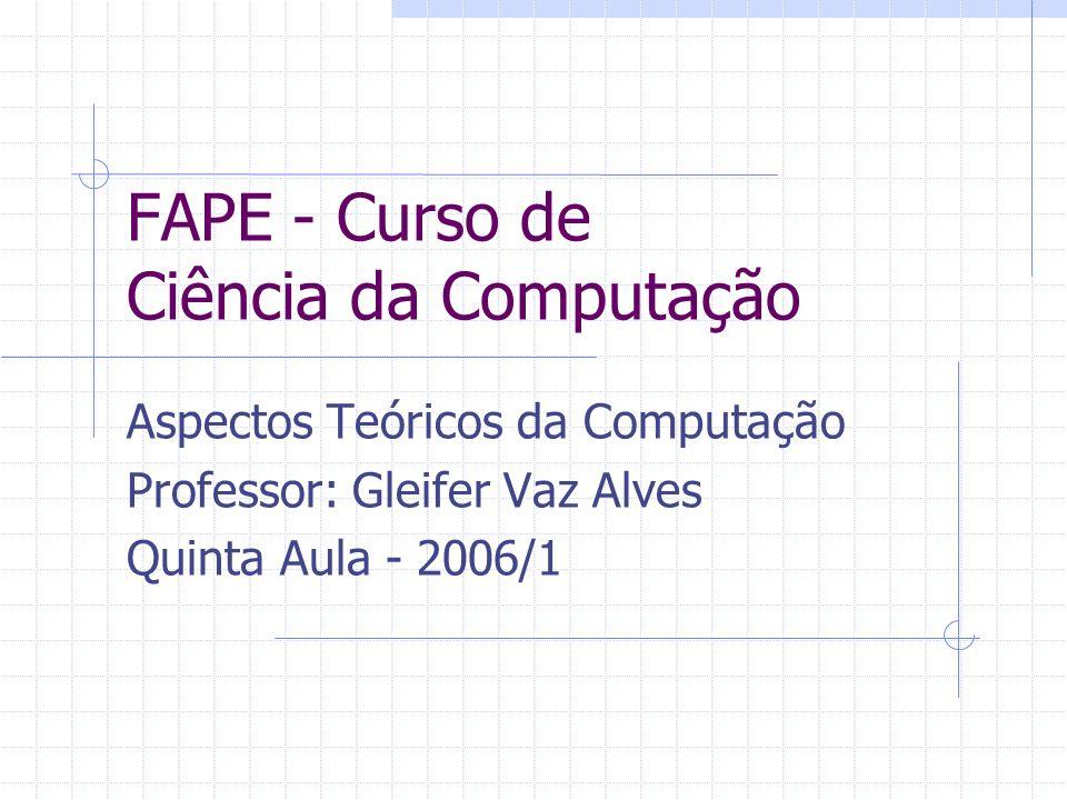 FAPE - Curso de Ciência da Computação