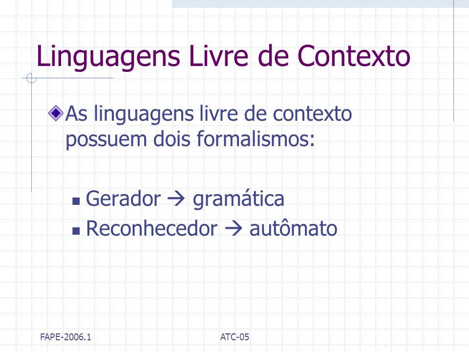 Linguagens Livre de Contexto