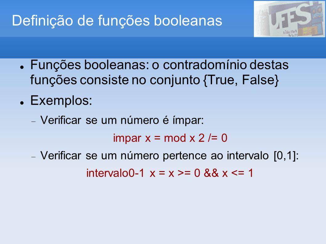 Definição de funções booleanas