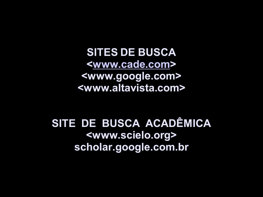 SITE DE BUSCA ACADÊMICA