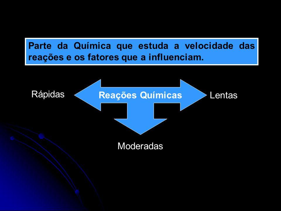 Parte da Química que estuda a velocidade das reações e os fatores que a influenciam.