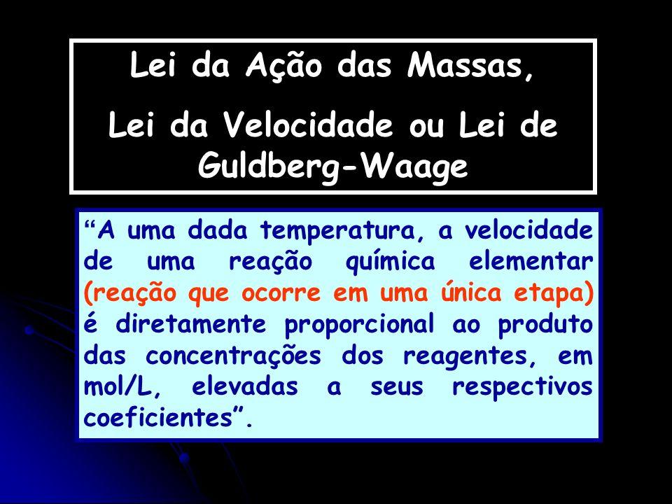Lei da Velocidade ou Lei de Guldberg-Waage