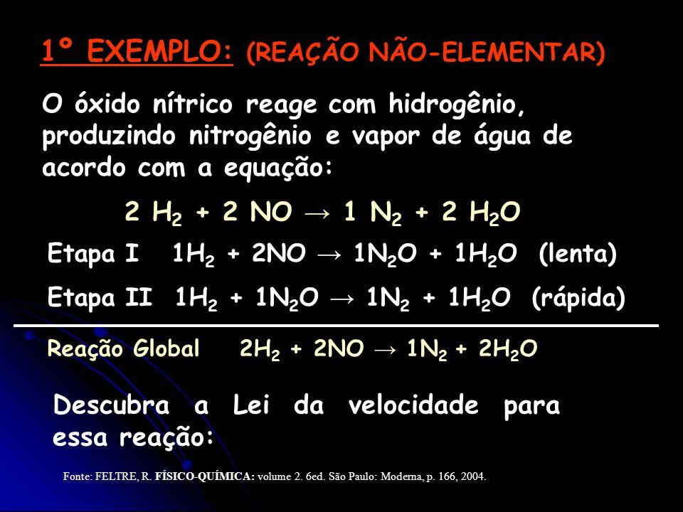 1º EXEMPLO: (REAÇÃO NÃO-ELEMENTAR)