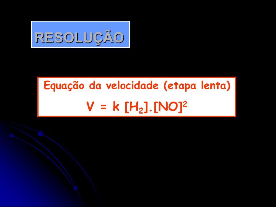 Equação da velocidade (etapa lenta)