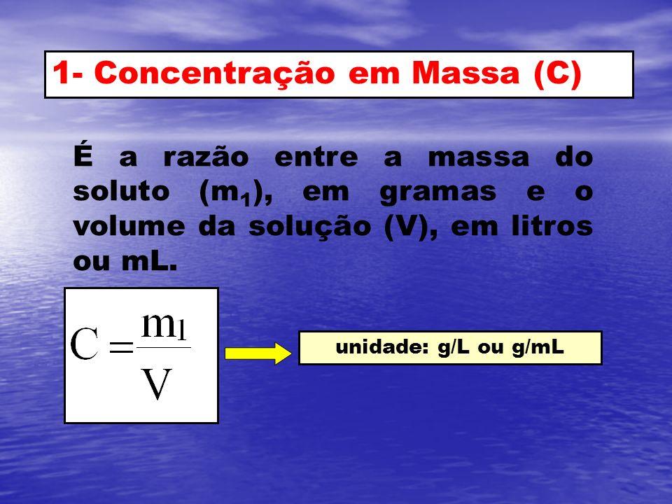 1- Concentração em Massa (C)