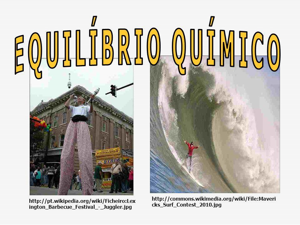 EQUILÍBRIO QUÍMICO http://commons.wikimedia.org/wiki/File:Mavericks_Surf_Contest_2010.jpg.