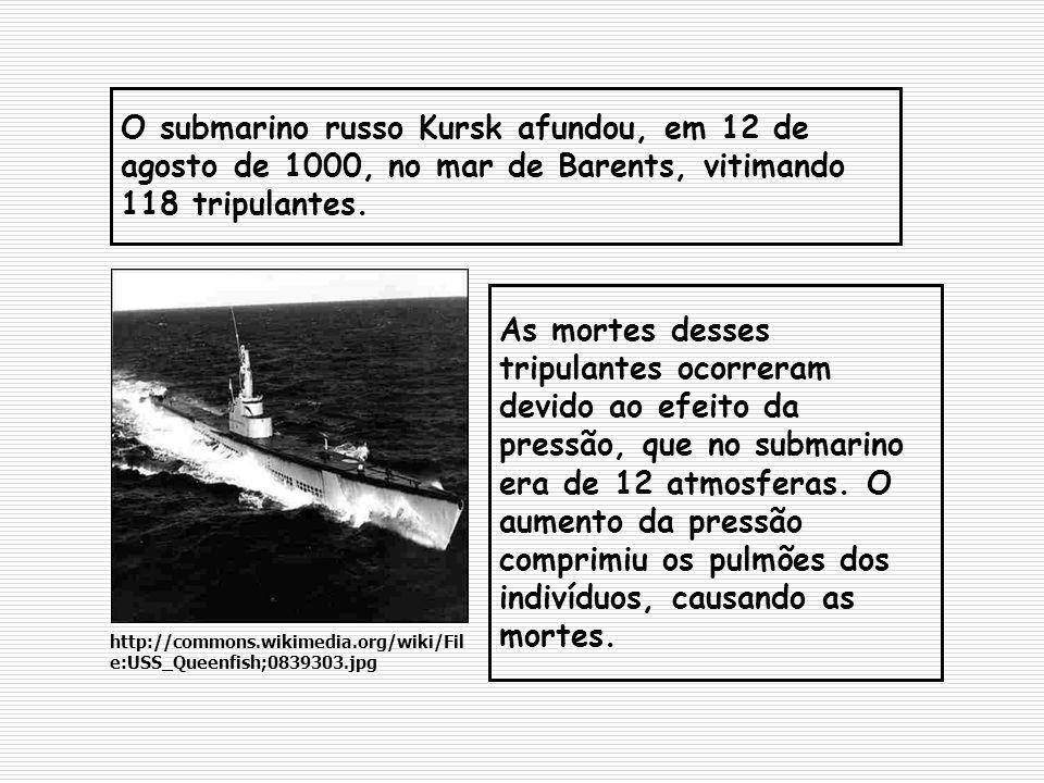 O submarino russo Kursk afundou, em 12 de agosto de 1000, no mar de Barents, vitimando 118 tripulantes.