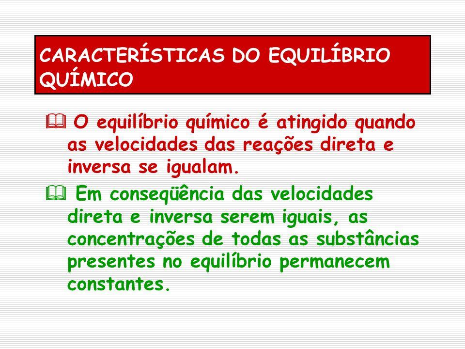 CARACTERÍSTICAS DO EQUILÍBRIO QUÍMICO