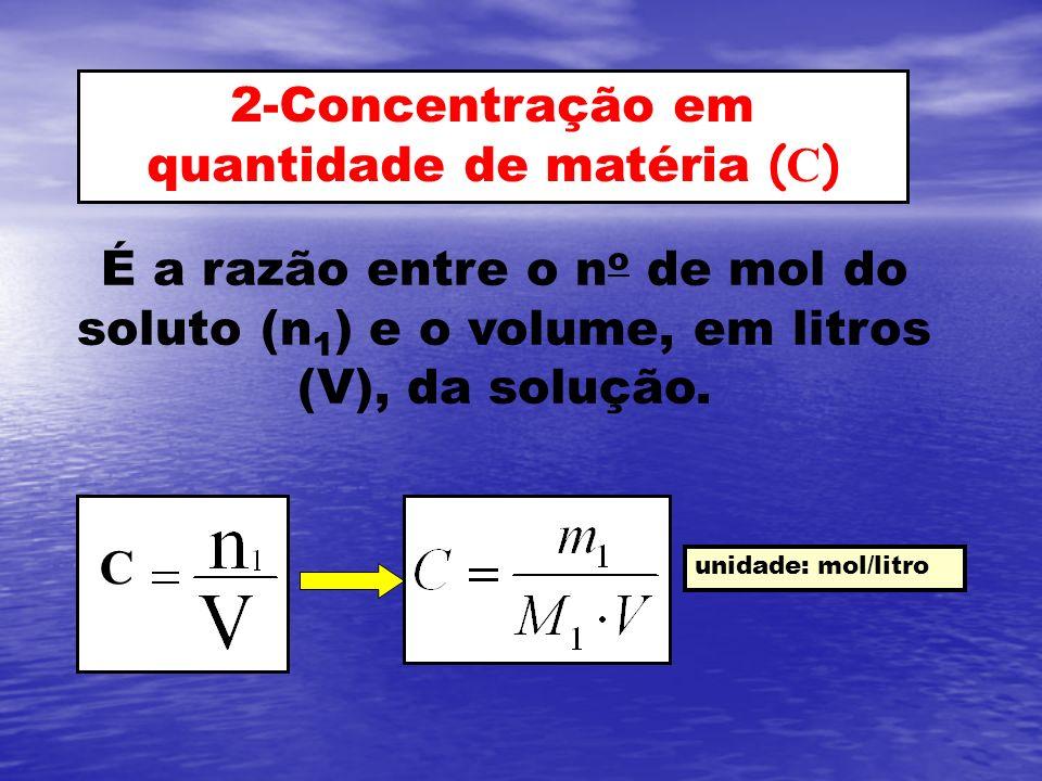 2-Concentração em quantidade de matéria (C)