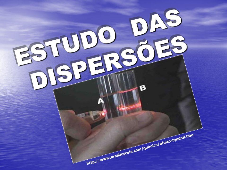 ESTUDO DAS DISPERSÕES http://www.brasilescola.com/quimica/efeito-tyndall.htm