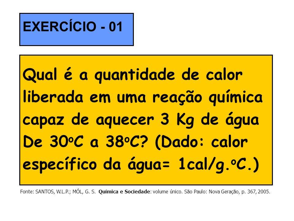 Qual é a quantidade de calor liberada em uma reação química