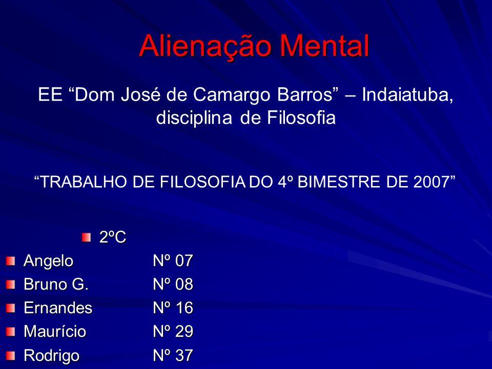 EE Dom José de Camargo Barros – Indaiatuba, disciplina de Filosofia