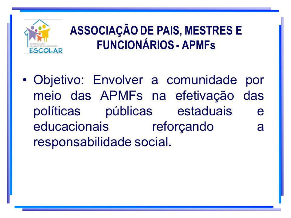 ASSOCIAÇÃO DE PAIS, MESTRES E FUNCIONÁRIOS - APMFs