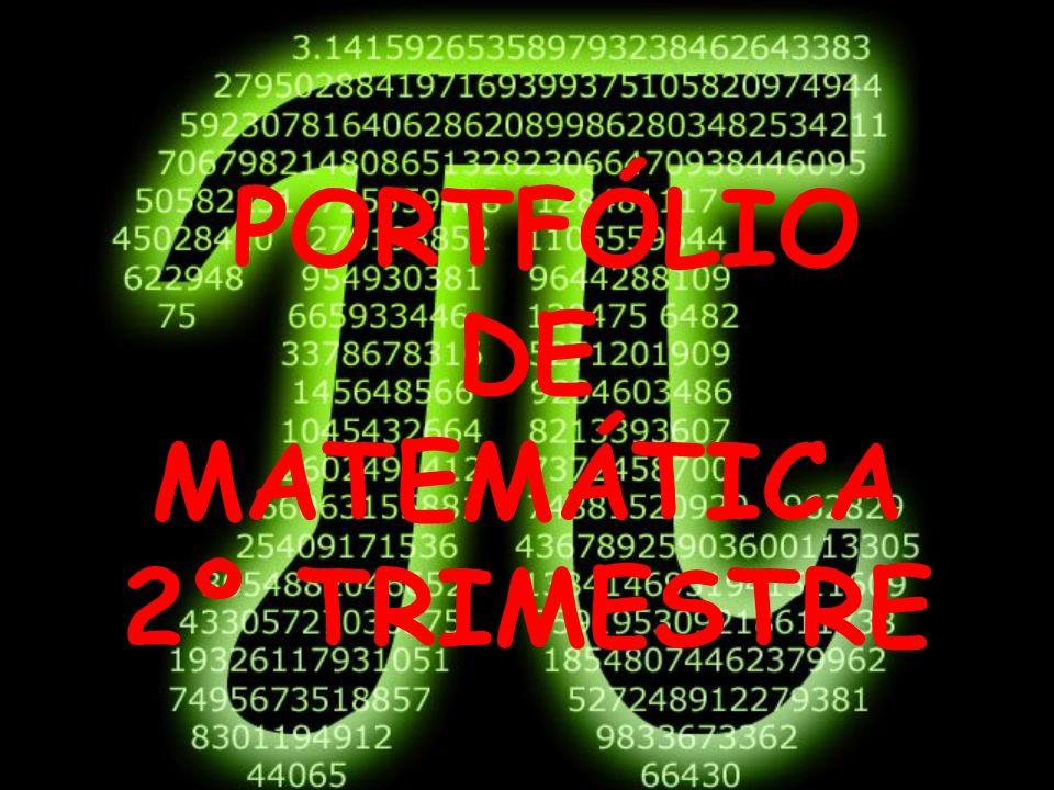 DE MATEMÁTICA 2º TRIMESTRE