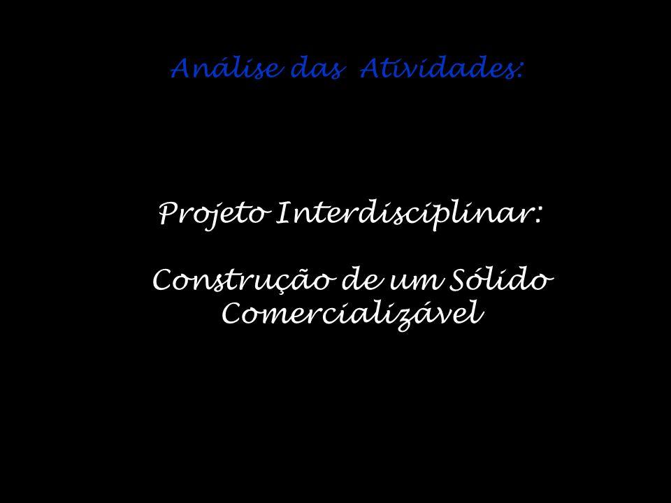 Projeto Interdisciplinar: Construção de um Sólido Comercializável