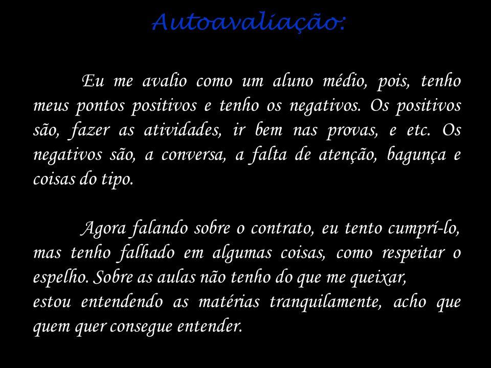 Autoavaliação:
