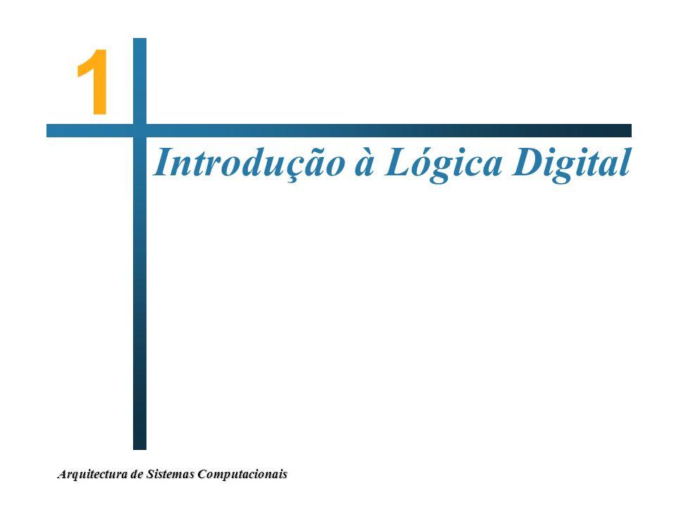 1 Introdução à Lógica Digital Arquitectura de Sistemas Computacionais