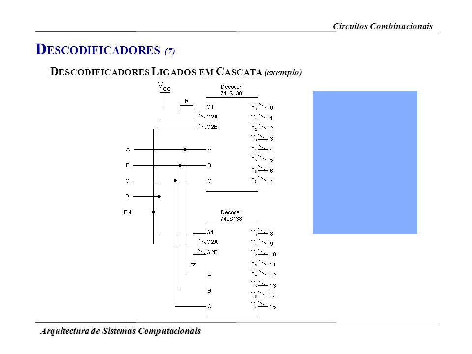 DESCODIFICADORES (7) DESCODIFICADORES LIGADOS EM CASCATA (exemplo)