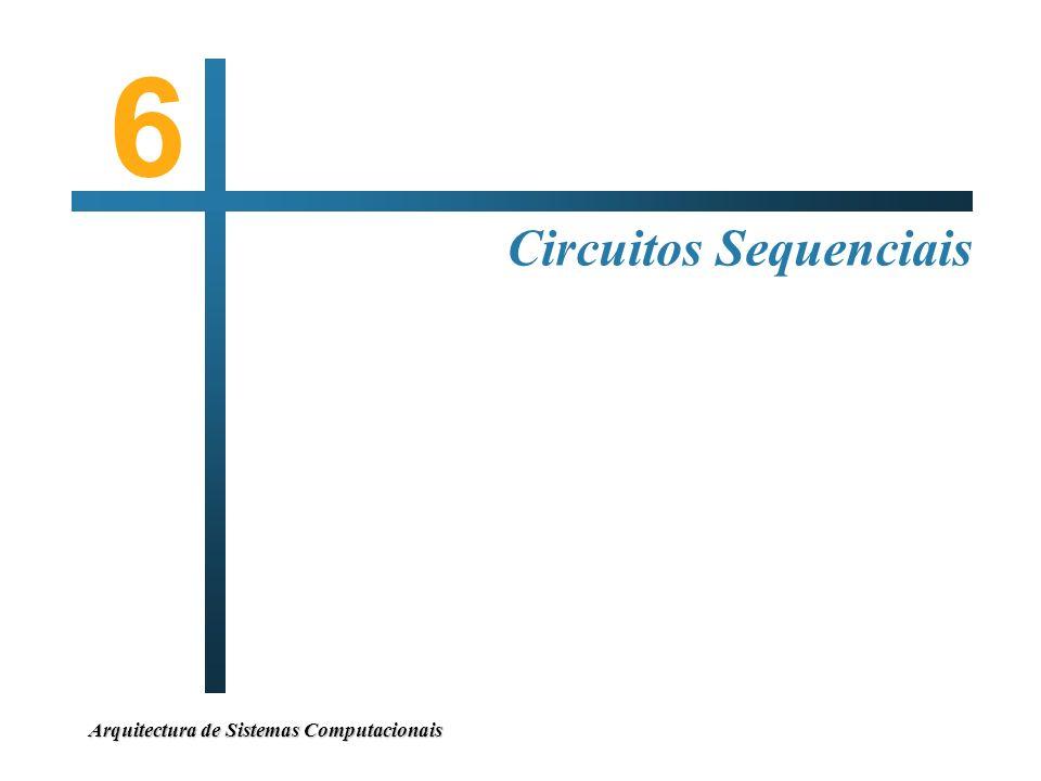 6 Circuitos Sequenciais Arquitectura de Sistemas Computacionais