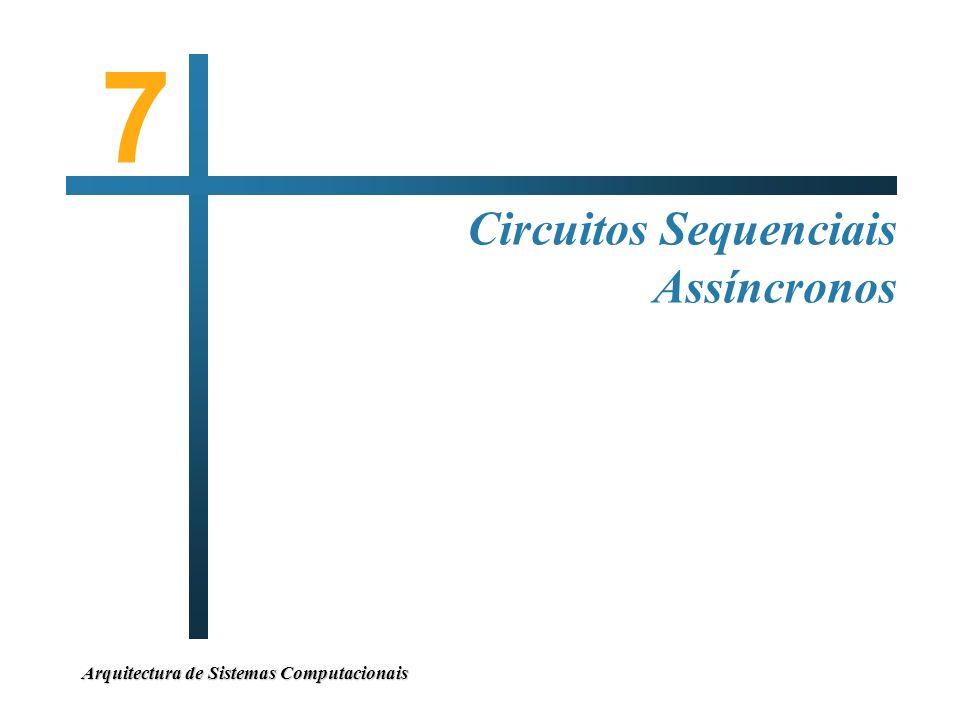 7 Circuitos Sequenciais Assíncronos