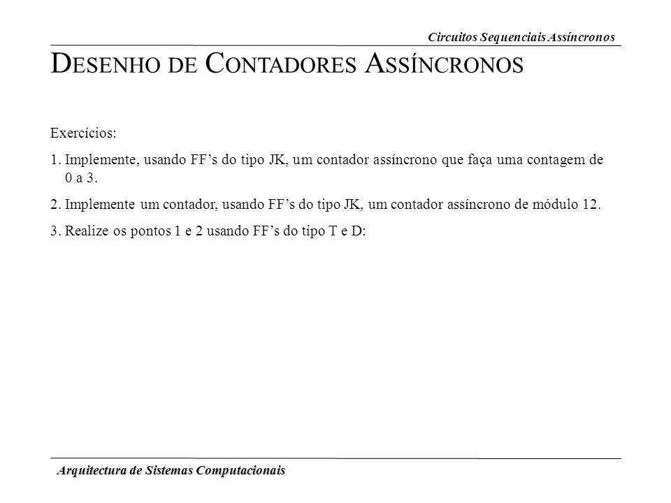 DESENHO DE CONTADORES ASSÍNCRONOS