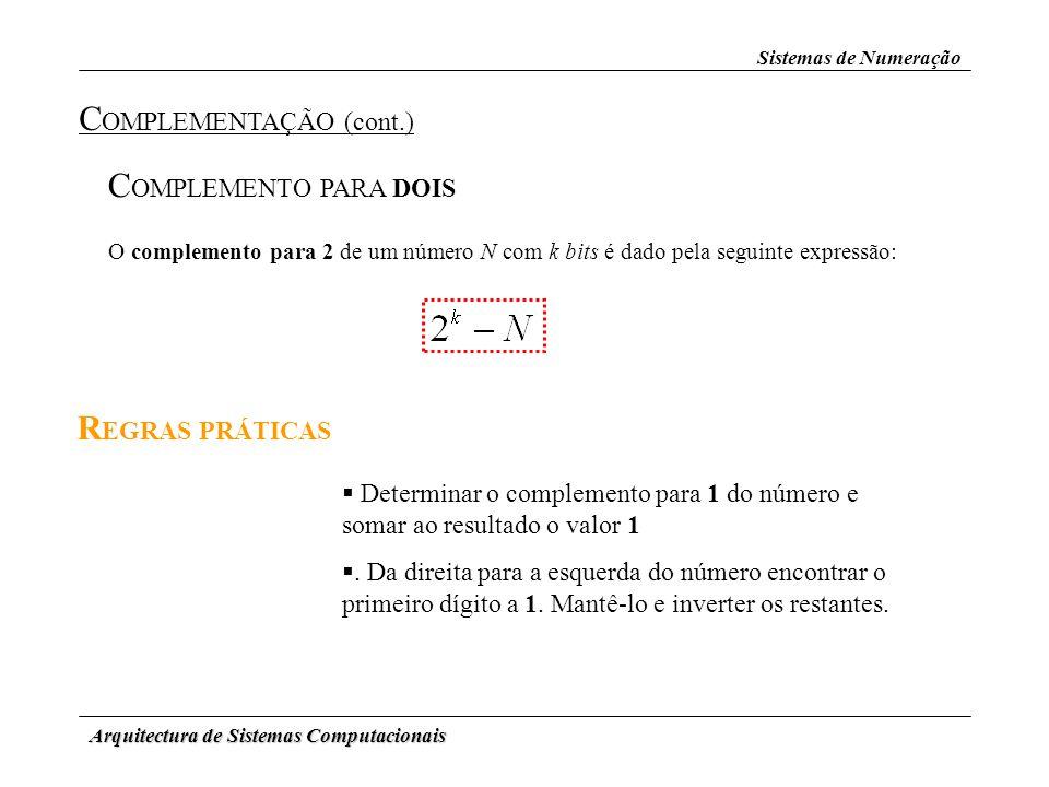 COMPLEMENTAÇÃO (cont.)