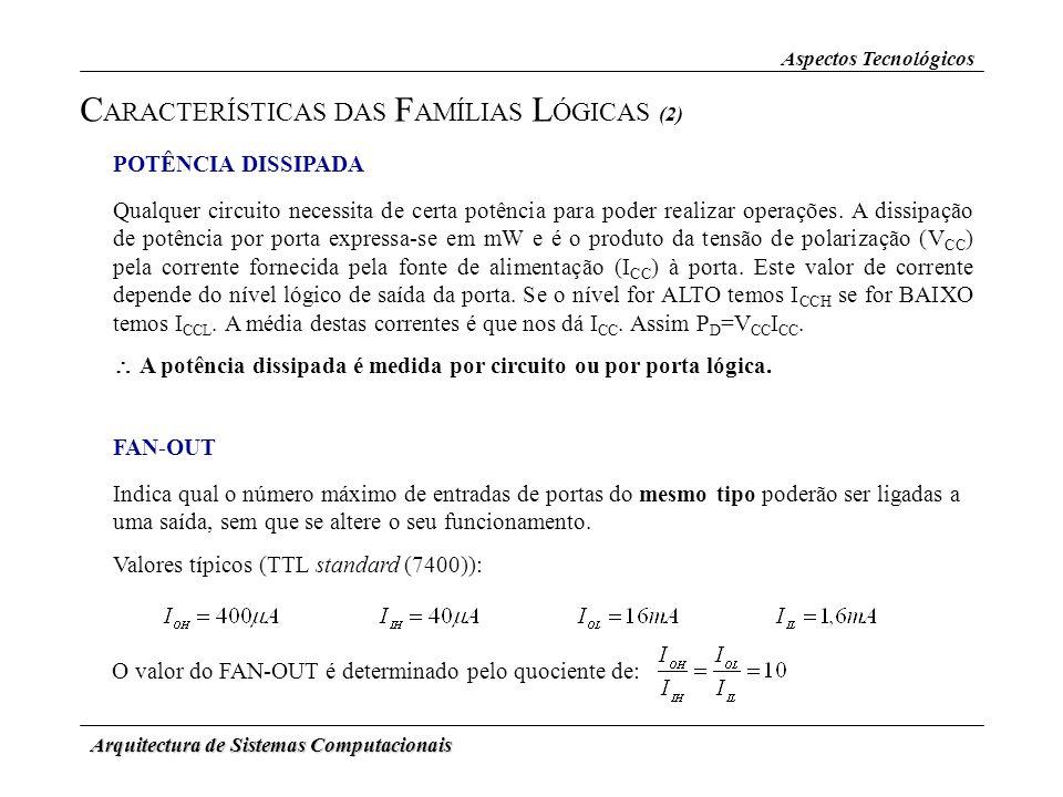 CARACTERÍSTICAS DAS FAMÍLIAS LÓGICAS (2)