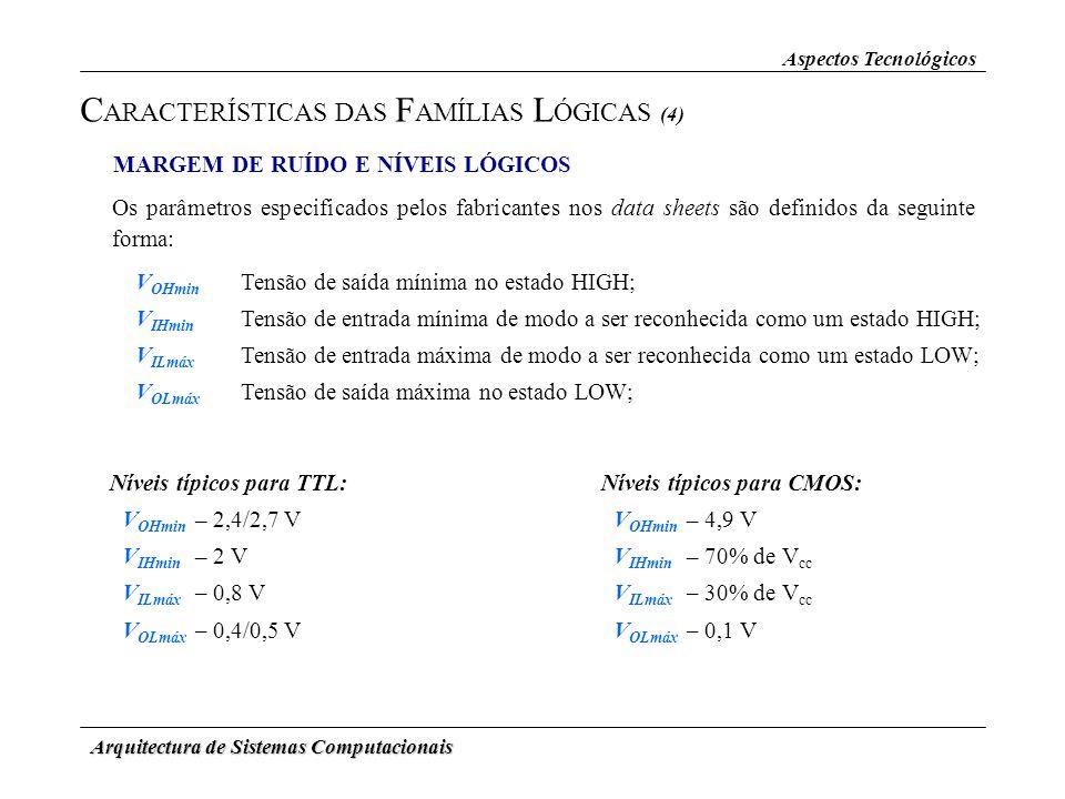 CARACTERÍSTICAS DAS FAMÍLIAS LÓGICAS (4)