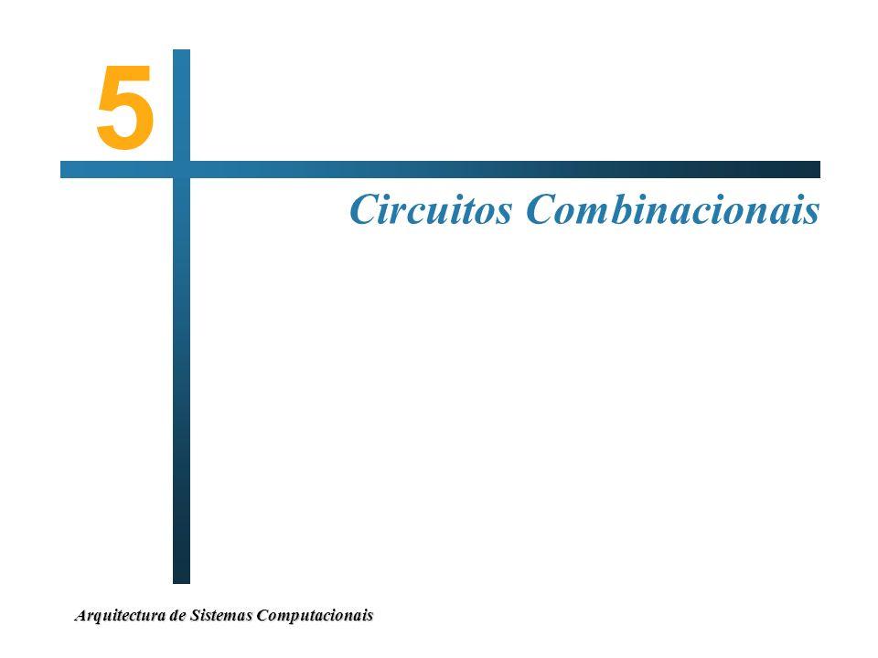 5 Circuitos Combinacionais Arquitectura de Sistemas Computacionais
