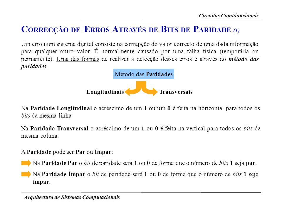 CORRECÇÃO DE ERROS ATRAVÉS DE BITS DE PARIDADE (1)