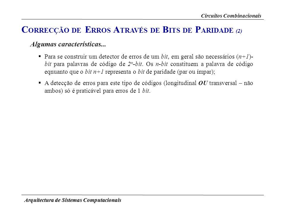 CORRECÇÃO DE ERROS ATRAVÉS DE BITS DE PARIDADE (2)