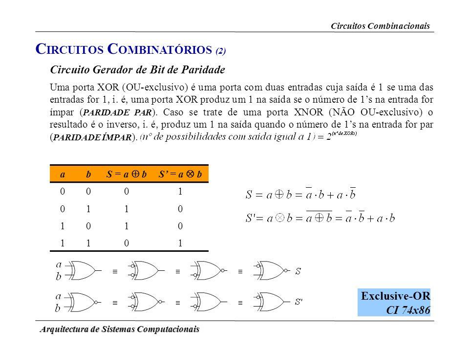 CIRCUITOS COMBINATÓRIOS (2)