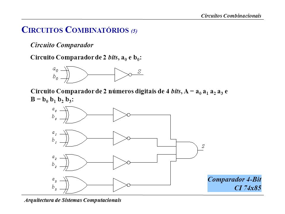 CIRCUITOS COMBINATÓRIOS (5)